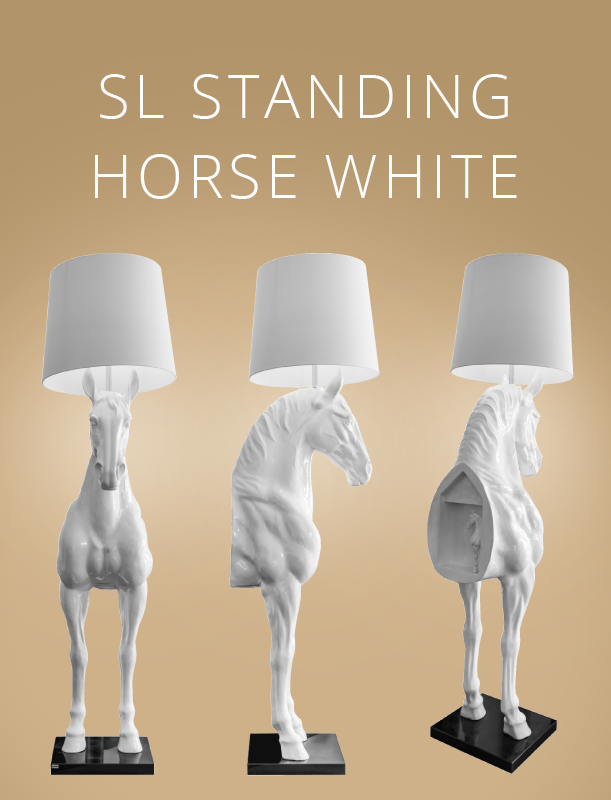 SL Standing Horse White Stehlampe